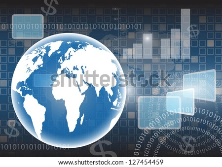 Background map of the world vector - stock vector