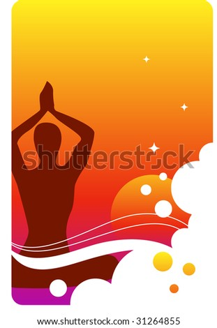background - meditation and yoga - stock vector