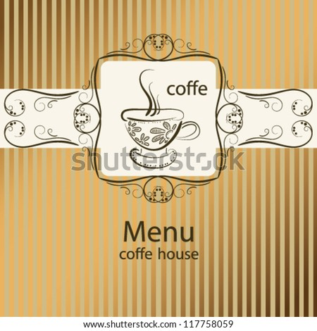Background menu with cup of coffee