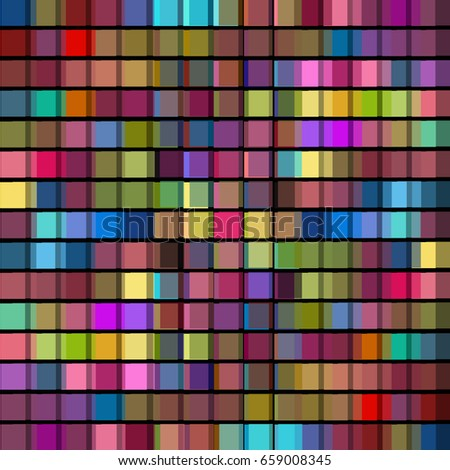 Background mosaic of colored squares. Vector