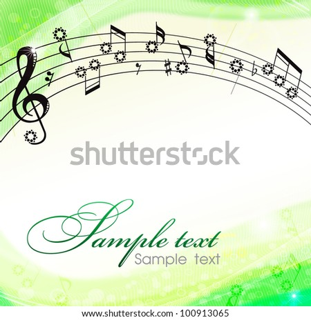 background music - stock vector