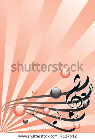 Background music, vector