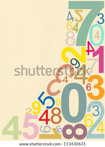 background numbers - stock vector