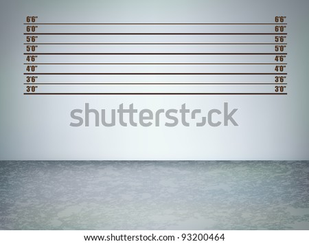 Background of  a police lineup, vector illustration with copy space - stock vector