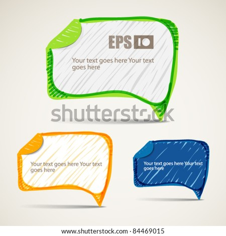 Background of abstract talking bubbles - stock vector