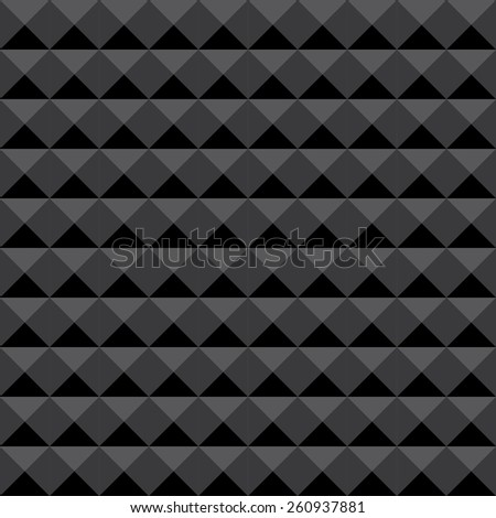 Background of acoustic foam wall, soundproofing. Seamless geometric vector pattern.