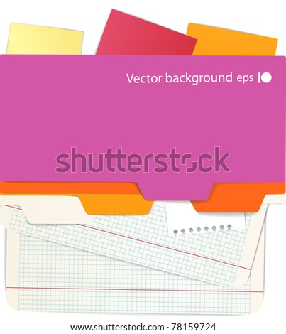 Background of an office stuff - stock vector