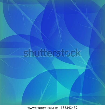 Background of blue autumn. Autumn vector , autumn leaves on the sky background , element of design . Background of green leaves abstract vector.