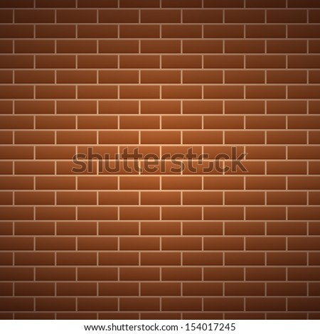 Background of brick wall texture - Vector illustration - stock vector