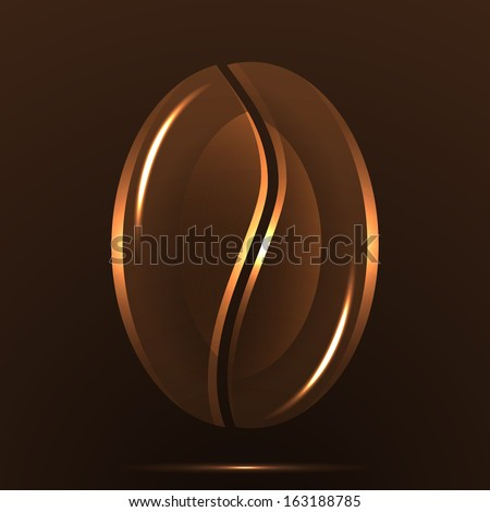 Background of coffee bean. Vector. - stock vector