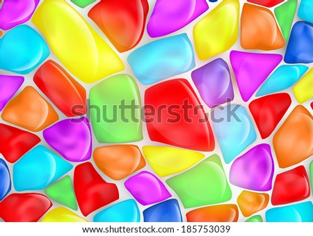 background of colored stones - stock vector