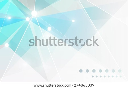 Background of geometric shapes - stock vector