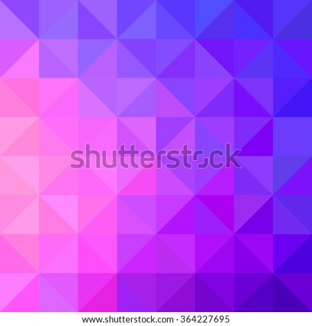 Background of geometric shapes. Colorful mosaic pattern. Retro triangle background - stock vector