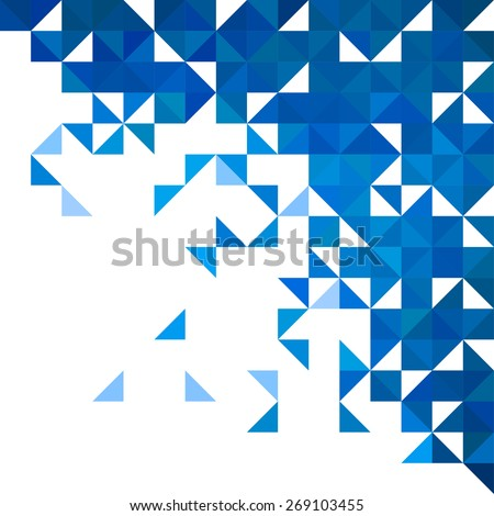 Background of geometric shapes. Colorful mosaic pattern. Retro triangle corner background - stock vector