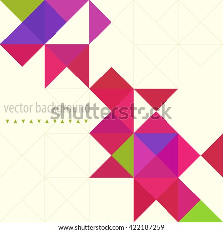 Background of geometric shapes. Colorful mosaic pattern. Triangle background