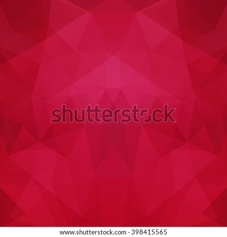 Background of geometric shapes. Colorful mosaic pattern. Vector EPS 10. Vector illustration. Pink, red  color.  - stock vector