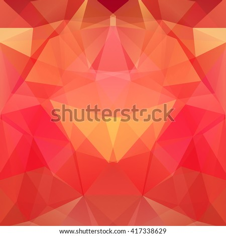 Background of geometric shapes. Colorful mosaic pattern. Vector EPS 10. Vector illustration Red, orange colors.  - stock vector