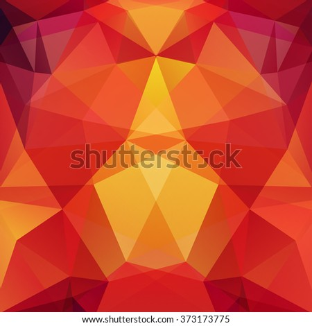 Background of geometric shapes. Colorful mosaic pattern. Vector EPS 10. Vector illustration. Yellow, orange colors.  - stock vector