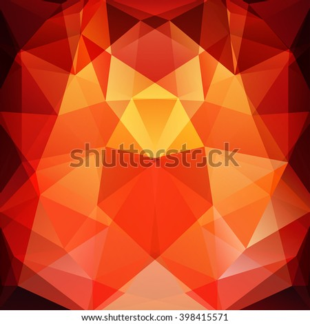 Background of geometric shapes. Colorful mosaic pattern. Vector EPS 10. Vector illustration. Yellow, red, orange colors.  - stock vector