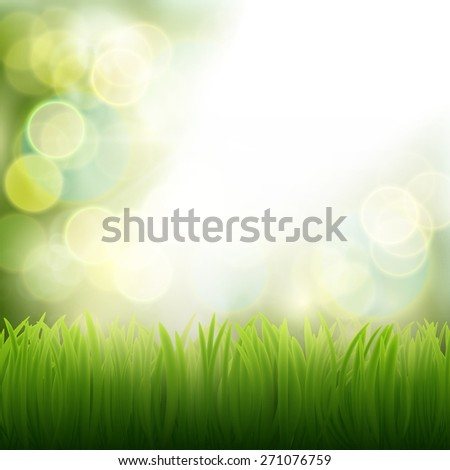 Background of green grass. Vector image. - stock vector