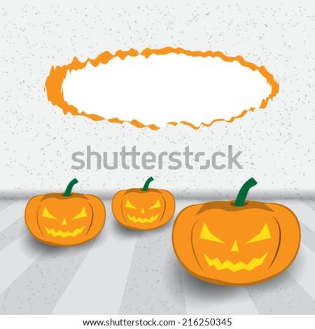background of  Halloween Jack-o-lantern .Vector illustration - stock vector