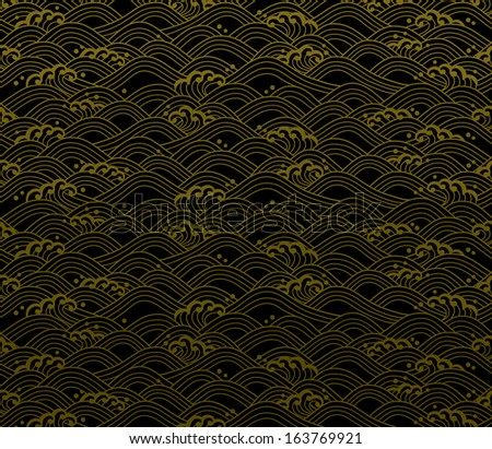background of Japanese wave illustration.  - stock vector