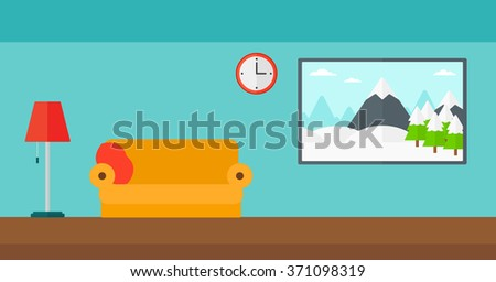 Background of living room - stock vector