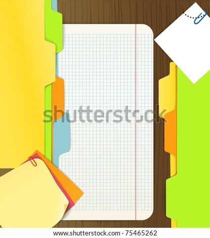 Background of paper sheets - stock vector