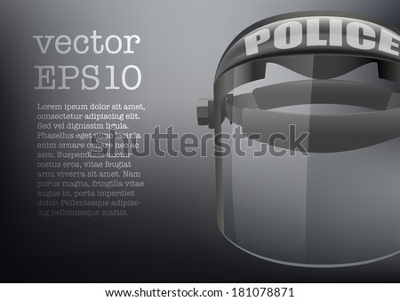 Background of Police protect mask Vector illustration. Mask protection, police, police equipment, police gear, police helmet, police suit, police uniform, policeman, defense, police mask, defense mask