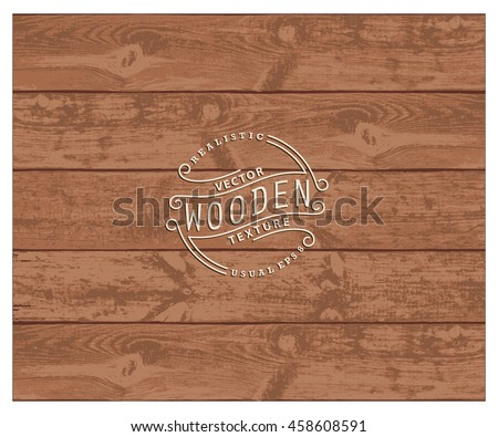 Background of realistic wooden planks. Tricolor, simple, usable design. The cherry wood color - stock vector