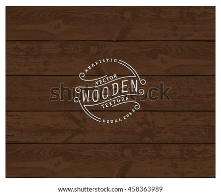 Background of realistic wooden planks. Tricolor, simple, usable design. The color of nutwood - stock vector