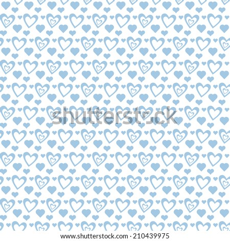 Background of seamless hearts pattern - stock vector