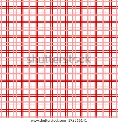 Background of Seamless Plaid Pattern - stock vector