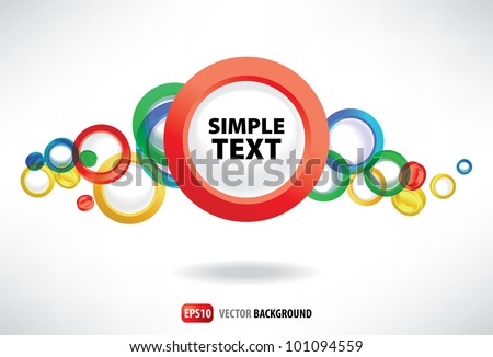 Background of the abstract three-dimensional rings - stock vector