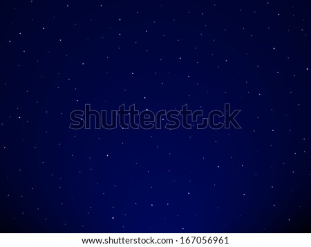 Background of the starry sky - stock vector