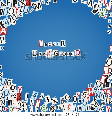 Background of vector letters from newspaper and magazines - stock vector