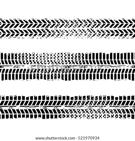 Background Of Wheel Prints In Black And White Colors Vector Illustration