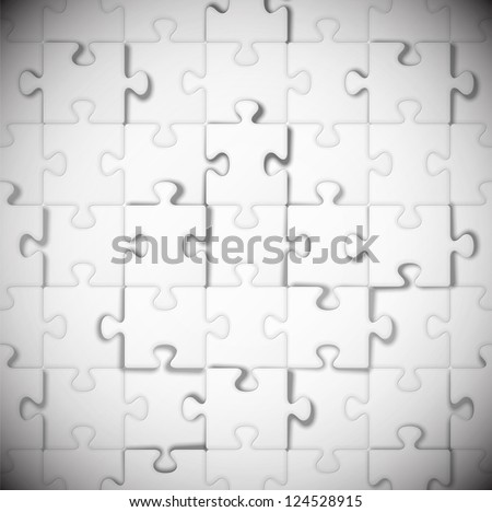 Background of white puzzle. Eps 10 - stock vector