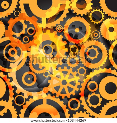 Background or different gear wheels - stock vector
