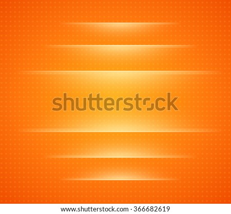 Background orange with dots pattern, vector illustration. - stock vector