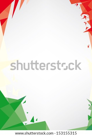 background origami of Italy.  a design background (Origami style) for a very nice poster - stock vector