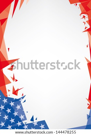 background origami of USA. A trendy american background for your publicity (Origami style) - stock vector