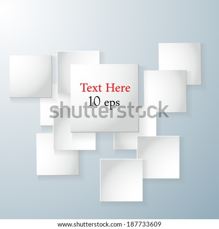 background paper, with squares to place under text. Vector illustration. eps 10