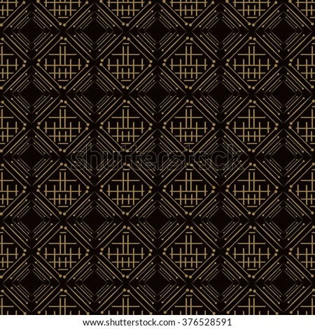 Background pattern. Asian style, dark - stock vector
