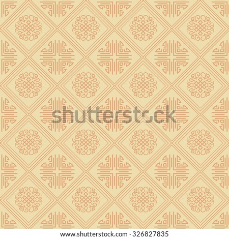 Background pattern. Asian style texture: Chinese, Japanese, Indian. Geometric pattern. Islamic wallpaper. Islamic background. Islamic pattern. Yellow. Vector image   - stock vector