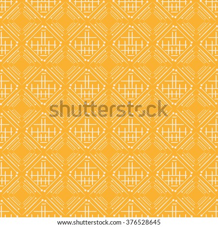 Background pattern. Asian style, yellow - stock vector