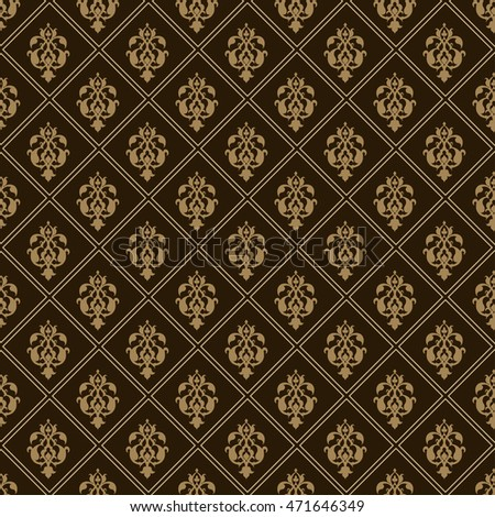 Background, pattern, black image, seamless texture, vintage style, victorian, baroque, gothic, modern wallpaper, graphic design, vector illustration