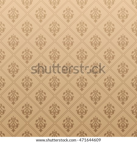 Background, pattern, brown texture, vintage style, victorian, baroque, gothic, modern wallpaper, graphic design, vector illustration