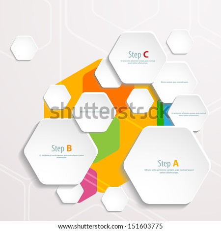 Background Polygons Cut Paper Design Template Vector – Paper Design Template