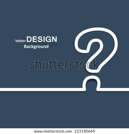 background question - stock vector
